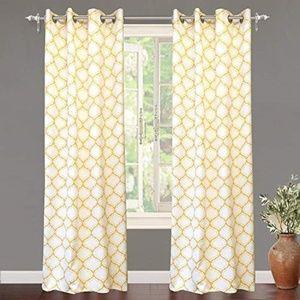 DriftAway Geo Trellis Darkening Grommet Curtains